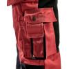Pantalon de travail bicolore Blaklader artisan polycoton 300g Rouge / Noir  Détail 2