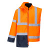 Parka bicolore 5-en-1 Portwest EXECUTIVE - Parka bicolore 5-en-1 Portwest Executive Orange / Marine détail