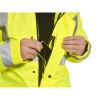 Parka de travail haute visibilité 3 en 1 Portwest Jaune Détail 3