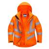 Parka femme haute visibilité respirante Portwest 300D - Parka femme haute-visibilité respirante Portwest 300D Orange Détail