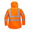 Parka femme haute visibilité respirante Portwest 300D - Parka femme haute-visibilité respirante Portwest 300D Orange Dos