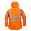 Parka femme haute-visibilité respirante Portwest 300D orange dos