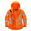 Parka femme haute-visibilité respirante Portwest 300D orange face