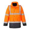 Parka haute visibilité Portwest 4en1 bicolore contrastée trafic - Orange / Marine