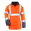 Parka haute visibilité femme Coverguard Airport Bicolore - Orange / Bleu