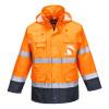 Parka haute visibilité imperméable Portwest 3 en 1 bicolore - Orange / Marine
