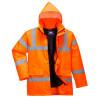Parka haute visibilité matelassée Portwest traffic - Parka haute visibilité matelassée Portwest Traffic Orange Détail 2