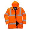 Parka haute visibilité matelassée Portwest traffic - Parka haute visibilité matelassée Portwest Traffic Orange Détail