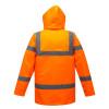 Parka haute visibilité matelassée Portwest traffic - Parka haute visibilité matelassée Portwest Traffic Orange Dos