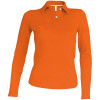 Polo de travail femme manches longues Kariban 100% coton - Polo de travail femme Kariban 100% coton orange