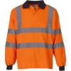 Polo de travail manches longues haute visibilité Yoko HI VIZ - Orange Fluo