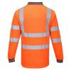 Polo haute visibilité Portwest manches longues - Orange dos