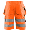 Short de travail haute visibilité Blaklader multipoches Polycoton - Short de travail haute visibilité Blaklader Multipoches Polycoton orange dos