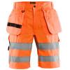 Short de travail haute visibilité Blaklader multipoches Polycoton - Orange