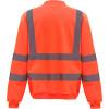 Sweat-shirt de travail haute visibilité Yoko Orange Dos
