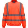 Sweat-shirt de travail haute visibilité Yoko - Orange