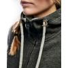 Sweat zippé à capuche femme Blaklader Noir détail 2