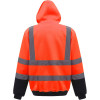Sweat-shirt à capuche haute visibilité femme Yoko catégorie 3 Orange / Marine Dos
