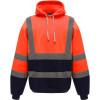 Sweat-shirt à capuche haute visibilité femme Yoko catégorie 3 - Orange / Marine