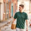 T-shirt de travail Russell - Vert Foncé mannequin