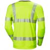 T-shirt haute visibilité manches longues Helly Hansen LIFA ACTIVE CREWNECK jaune dos