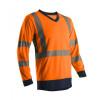 T-shirt manches longues haute visibilité Coverguard SUNO SUNA - Orange / Navy