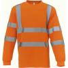 T-shirt manches longues haute visibilité Yoko HI VIZ - Orange Fluo