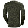 T-shirt manches longues Helly Hansen LIFA MERINO CREWNECK camouflage kaki dos