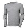 T-shirt manches longues Helly Hansen LIFA MERINO CREWNECK - Gris
