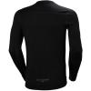 T-shirt manches longues Helly Hansen LIFA MERINO CREWNECK noir dos