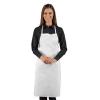 Tablier de cuisine sans poches Isacco 100% coton - Blanc