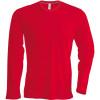 Tee-shirt de travail col rond manches longues Kariban 100% coton Rouge