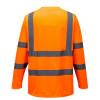 Tee-shirt haute visibilité Portwest manches longues Orange Dos