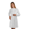Blouse blanche médicale femme Isacco Camice Catalina manches longues - Tunique Isacco Camice Catalina manches longues Blanc