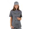Veste de cuisine grise femme manches courtes Isacco Lady Chef - Gris