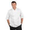 Veste de cuisine Ultra légère homme manches courtes Isacco Alabama - Blanc