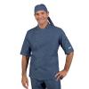 Veste de cuisine Jean homme manches courtes Isacco Panama Slim - Bleu