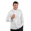 Veste de cuisine zippée homme manches longues Isacco Bilbao blanche - Blanc
