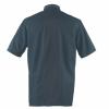 Veste de cuisine respirante manches courtes Robur AGUILA - Veste de cuisine manches courtes Robur AGUILA noir/gris dos