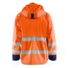 Veste de pluie haute visibilité Blaklader NIVEAU 3 Orange Fluo / Marine Dos