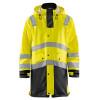 Veste de pluie Haute visibilité Blaklader étanche et coupe-vent - Jaune / Noir