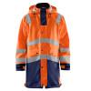 Veste de pluie Haute visibilité Blaklader étanche et coupe-vent - Orange / Marine