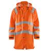 Veste de pluie Haute visibilité Blaklader étanche et coupe-vent - Orange