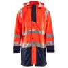 Manteau de pluie imperméable Blaklader haute visibilité - Orange / marine