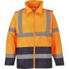 Veste de pluie haute visibilité Portwest bicolore - Orange / Marine