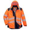 Veste de pluie haute visibilité Portwest VISION - Veste de pluie haute visibilité Portwest Vision Orange / Noir Capuche Relevée