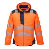 Veste de pluie haute visibilité Portwest VISION - Orange / Noir