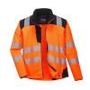 Veste de pluie softshell haute visibilité Portwest VISION - Veste de pluie softshell haute visibilité Portwest Vision Orange / Noir Détail