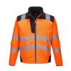 Veste de pluie softshell haute visibilité Portwest VISION - Orange / Noir
