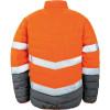 Veste haute visibilité Result toucher doux Orange / Gris Dos
